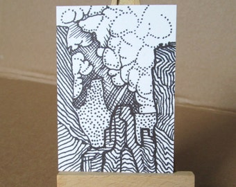 ACEO Artist Trading Card Canyon Original Drawing
