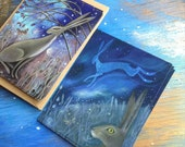 Hares. Six Postcards with Envelopes
