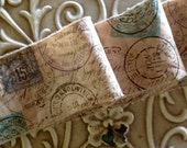 Fabulous Old World Distressed and Hand Frayed FRENCH POSTAGE
