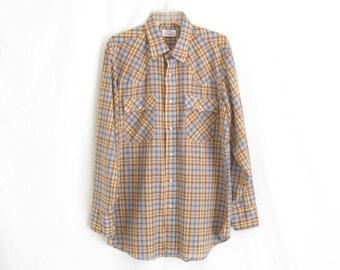 Vintage LEVIS  Snap Western Shirt.