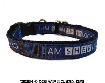 Sherlock Holmes inspired breakaway cat collar, and regular dog collar