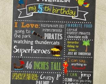 Printable- Pirate Birthday Party Sign- 16x20