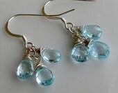 AA Blue Topaz Cascade Earrings