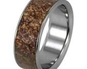 Dinosaur Bone Ring and Titanium Eternity Band, New Ring Design
