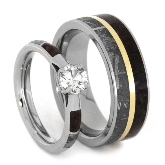 unique wedding ring set sapphire engagement ring by