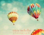 Nursery Decor, Hot Air Balloons Dreamy Whimsical Photography Print. Perfect Dream No. 3222