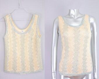 Bullock's Wilshire sequin sweater | sequin sweater | vintage wool sweater