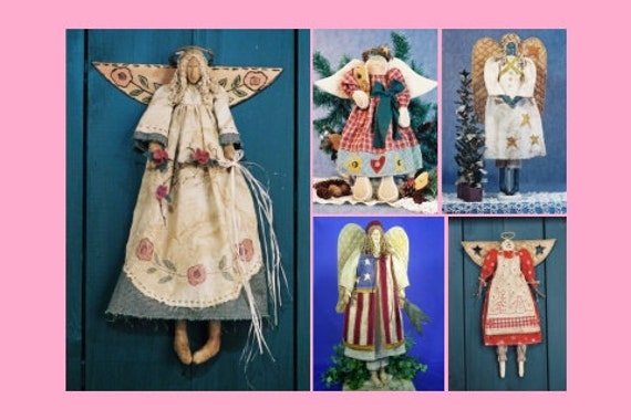 Cloth Doll E-Patterns A Collection of Beautiful Angel Patterns