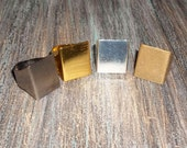 Rectangular RING blank 2pcs - (choice of gold, silver, bronze or gunmetal) ... shop closing sale