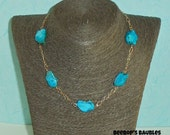 Nacozari Turquoise & Sterling Silver Necklace