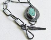 Turquoise Bracelet - Handmade Chain - Turquoise Jewelry - December Birthstone