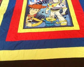 Twin buzz and Woody Quilt