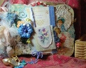 Mixed Media Art Romance, Bride, Engagement, Diary, SMASH Book, OOAK