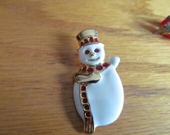 SNOW MAN BROOCH