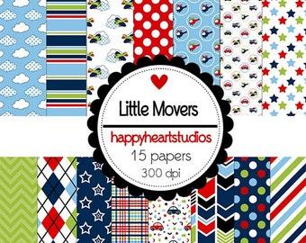 Digital Scrapbook  LittleMovers-INSTANT DOWNLOAD