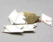 40pcs Raw Brass Diamond Shape Charm -  25.5x13mm (3048C-M-6)