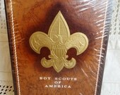 Vintage Boy Scouts of America, BSA, Stationary Portfolio, Writing Paper, Embossed