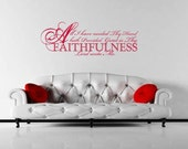 Wall Decal Wall Sticker Great is Thy Faithfulness Lord Unto Me  Wall Decal/Wall Sticker/Wall Tattoo