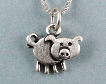 Tiny pig necklace