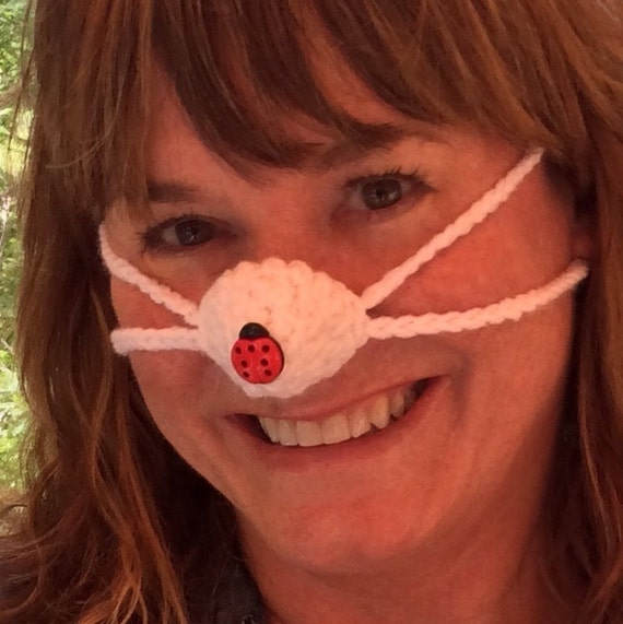Nose Warmer, Ladybug on your Nose - Woman, Teen Tween,  Nose Cozy, Outdoors Games, Indoors, Stocking Stuffer, Teacher Mom Gift, Frozen Nose