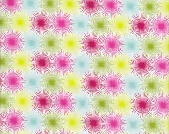 Blend Fabrics Hip Holiday Star Bursts in White - Half Yard