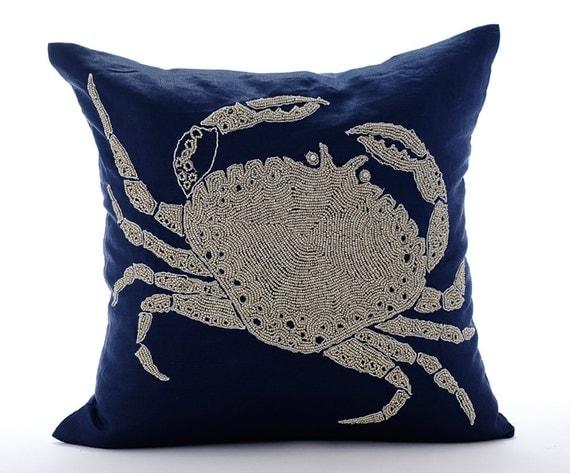 Navy Blue Decorative Bed Pillows : Navy Blue Pillow Covers Decorative Bed Pillows 20x20 Pillow