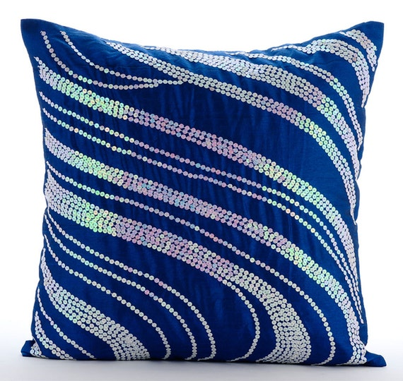 Throw Pillows Royal Blue : thehomecentric - Handmade Royal Blue Decorative Pillows Cover, 16
