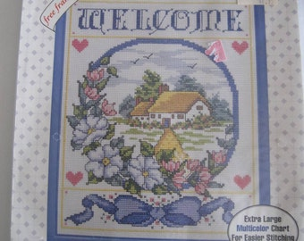 Welcome Counted Cross Stitch Sampler Kit Sealed