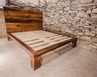 The Lamplighter   Modern Platform Bed From Reclaimed Wood
