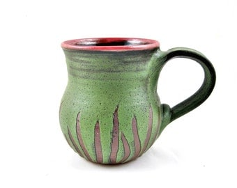 Pottery mug, Handmade mug, Ceramic mug, beer mug,20 oz.  In stock