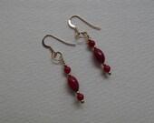 E 582 Bamboo Coral earrings