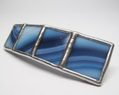 Crashing Waves - Large Stained Glass French Barrette