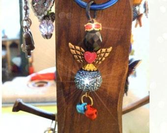 AUDREY Guardian ANGEL Ornament, Rearview Mirror Jewel, Suncatcher, Car Gem, Purse Charm