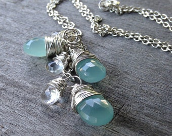 Chalcedony and Crystal Necklace