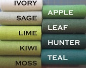 5 inch TEAL Green KIWI Moss or SAGE Green Burlap Ribbon - 3 yards