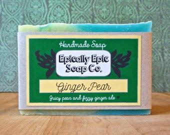 Ginger Pear Cold Process Soap - Vegan