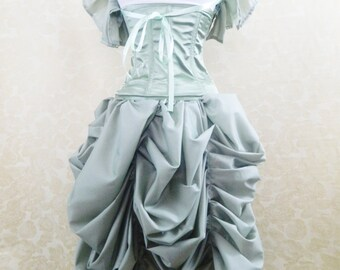 Sage Green Tabitha Knee Length Bustle Skirt-One Size Fits All