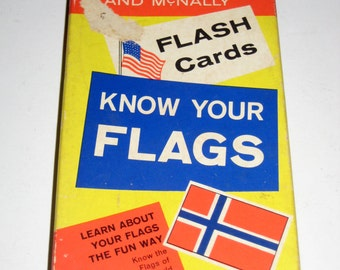 Vintage (1960) Rand McNally Flash Cards - Know Your Flags