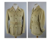 Vintage 70s Norfolk Jacket by Invertere with logo buttons S