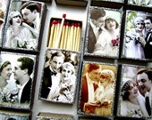 100 Vintage Style Wedding Favors, Matchbox Customize your name and date