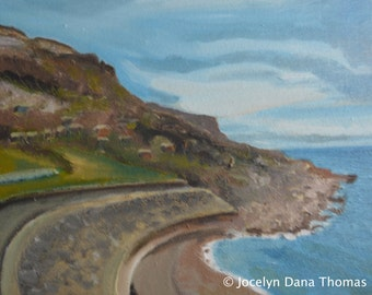 Overlooking Chesil Beach on Portland: Original Oil Painting