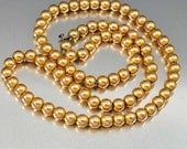 Antique Ball Beaded Gold Necklace, Gold Filled Necklace, Victorian Choker Necklace, Edwardian Necklace, Vintage 1890s Gold Chain Necklace