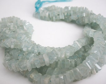 Aquamarine Beads, Aquamarine, Natural Aquamarine Beads, Aquamarine Heishi, March Birthstone, SKU 4740