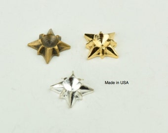 Chaton setting, brass for 5mm stone , sold in packages of 6 13131