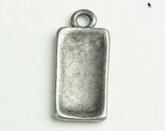 Rectangle Pendant bezel package of 6 13804