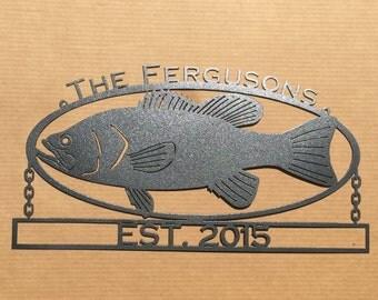 Metal Art Custom Metal Fish Sign (Q9)