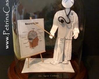 Neurologist Doctor NEUROSURGEON Neurology Business Card Sculpture -Design 1063