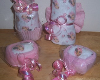 Minnie Mouse Baby Shower Favor Set, Lollipops, Cupcake, Butterfly
