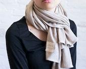 SALE knit linen shawl