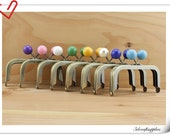 4 inch (10.5cm ) colorful bobble coin Anti brass purse frame (set of 8 color )  Z85